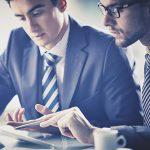 Customs Broker reviewing documents