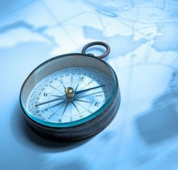 Compass-on-a-Map