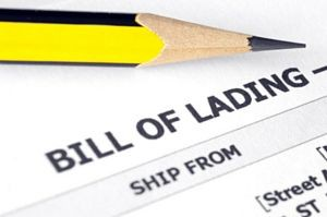 The Bill of Lading is a critical piece of documentation.