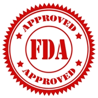 Red stamp with text FDA Approved,vector illustration