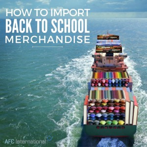 back to school imports ship