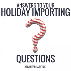 Holiday importing guide feature