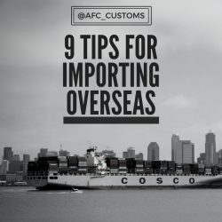 vessel importing overseas