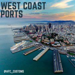 U.S. west coast ports of entry image