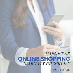 Importer Online Shopping Liability Checklist