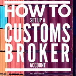 set up a customs account