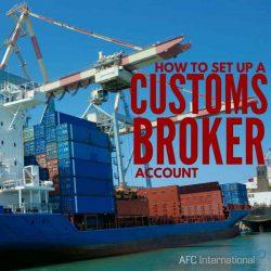 customs broker account