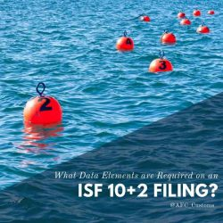 What Data Elements are Required on an ISF 10 + 2 Filing?