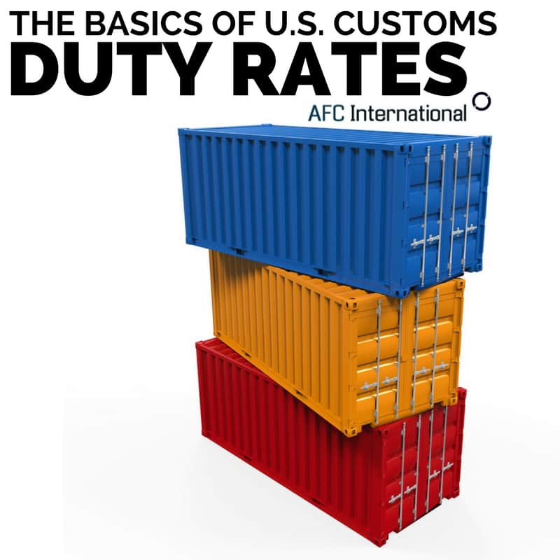 us customs duty rates