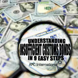 insufficient customs bonds