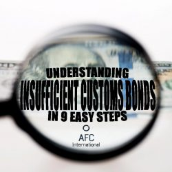 insufficient customs bonds